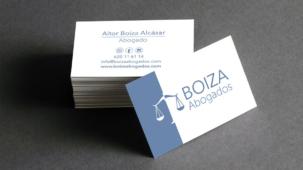 diseño gráfico el arte de la cuerva. Tarjetas de visita Boiza abogados